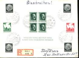 Deutsches Reich Block 7 U. A. Auf Einschreibbrief - Germany