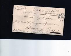 CG1 - Domaso - Bollo Doppio Cerchio Sardo Ital. - Manoscr. Sub. Distr. Di Gravedona - Lettera Per Garzeno 11/10/1860 - Italia