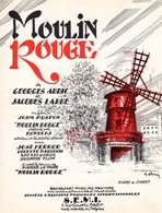 BELLE PARTITION AURIC / LARUE DU FILM MOULIN ROUGE (JOHN HUSTON) - 1953 - TB ETAT - - Film Music
