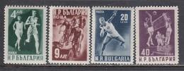 Bulgaria 1950 - Sport, Mi-Nr. 749A/52A, MNH** - 1945-59 República Popular