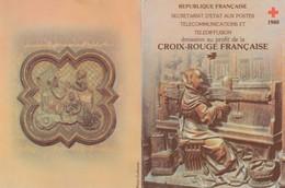 FRANCE - CARNET CROIX ROUGE 1980 - OBLITERATION AMIENS 6.12.1980 / 2 - Markenheftchen