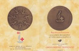FRANCE - CARNET CROIX ROUGE 1963 - OBLITERATION 1er JOUR BORDEAUX 7.12.1963 / 2 - Markenheftchen