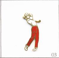 Pin's Sport - Golf / Golfeur. Estampillé Démons & Merveilles. EGF. T673-03 - Golf