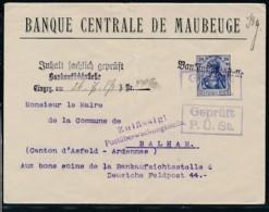 Maubeuge- Banken Brief Zensur (op2481  ) Siehe Scan - Ocupación 1914 – 18