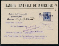 Maubeuge- Banken Brief Zensur (op2481  ) Siehe Scan - Occupazione 1914 – 18