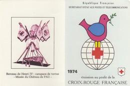 FRANCE - CARNET CROIX ROUGE 1974 - OBLITERATION 1er JOUR MULHOUSE 1.12.1974 / 2 - Markenheftchen