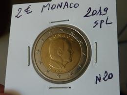RARE ***  2 EURO MONACO 2019 Spl  ( Livrée Sous étui H B - 3 Photos ) - Monaco