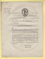 Prefet De La Manche - 19 Frimaire An 12 - Document Relatif A L Annulation De La Messe De Minuit La Veille De Noel - Documents Historiques