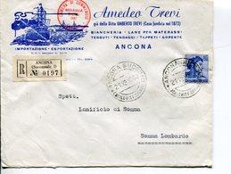 Italia (1963) - Raccomandata Da Ancona (succ. 1) - 1961-70: Poststempel