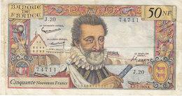 Billet 50 F Henri IV Du 2-7-1959 FAY 58.02 Alph. J.20 - 1959-1966 Franchi Nuovi