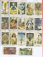 Jeu De Tarot Femme Actuelle Cartes Divinatoires 22 Cartes 7,5 Cm X 4 Cm    X3 Photos - Tarots