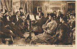 Léon Lhermite Né à Mont Saint Père Peintre Soirée Musicale Violon Violin - France