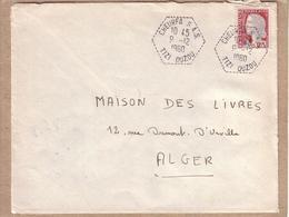 ALGERIE - AGENCE POSTALE - LETTRE CAD CHEURFA S.A.S. TIZI OUZOU POUR ALGER - 1960 - Lettres & Documents