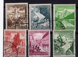 ALEMANIA IMPERIO / GERMANY REALM , 1938  MICHEL 675-676-677-678-680-683 - Germania