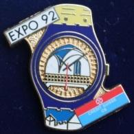 MONTRE EXPO 92 - CREDIT SUISSE - HUGUENIN SUISSE - EGF - UHR   -    (23) - Markennamen