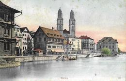 ZÜRICH → Grossmünster Anno 1905 - ZH Zurich