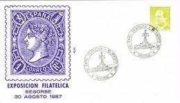35225. Carta SEGORBE (Castellon) 1987. Exposicion Filatelica. Plaza De Agua Limpia, Farol - 1931-Hoy: 2ª República - ... Juan Carlos I
