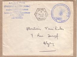 ALGERIE - AGENCE POSTALE - LETTRE CAD SIDI LADJEL S.A.S. MEDEA + CACHET POUR ALGER - 1960 - Lettres & Documents
