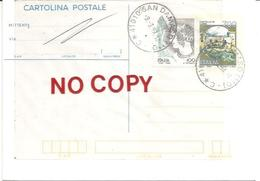 San Damaso, Modena, 9.9.99, Su Cartolina Postale Castello Di Carini Predisposta Ad Avviso Di Ricevimento O Riscossione. - 6. 1946-.. Repubblica