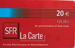 REUNION - Recharge SFR La Carte - 20 Euros (131,19 F) - Riunione