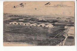 CPA - France 69 - Bron - Vue D'ensemble Du Champ D'Aviation -  Achat Immédiat - (cd017 )01 - Aerodrome