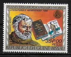 GUINEE BISSAU    PA 25    * *  ( Cote 3e ) Prix Nobel  Hemingway  Litterature - Prix Nobel