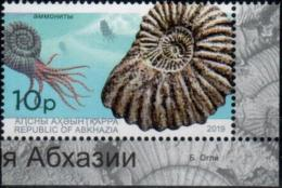 "Abkhazia 2019. ""Molluscs, Ammonites. Archaeology"" 1v Perforated. Quality:100% - 1992-.... Fédération"