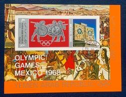 Yemen North, 4 B. 1968, Mi # Block76, Souvenir Sheet, Olympic Games, Used - Yemen