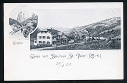AK/CP St. Peter  Tirol  Gasthof  Bräuhaus   Ungel/uncirc .um 1900   Erhaltung/Cond. 1- / 2  Nr. 00941 - Other