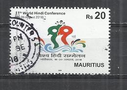 MAURITIUS 2018 - WORLD HINDI CONGRESS - POSTALLY USED OBLITERE GESTEMPELT USADO - Mauritius (1968-...)