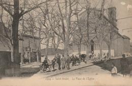 CPA-13-MARSEILLE-SAINT ANDRE-La Place De L'église-Animée - L'Estaque