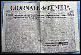 IL GIORNALE DELL'EMILIA - Quotidiano Indipendente Della Valle Padana (Bologna) - 25 Aprile 1946 (La Salma Di Mussolini) - Revues & Journaux