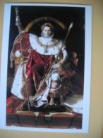 Napoléon Bonaparte, JAD Ingres, Tableau, Napoléon 1er Sur Le Trône Impérial En Costume - Historische Persönlichkeiten