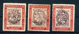 Type BLANC N° 108 Sur Porte Timbre BRIENNE (3 Ex) N° 1060 Yvert (livret De L'expert 2010) - 1900-29 Blanc