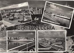 CIVITAVECCHIA-ROMA-SALUTI DA(MULTIVEDUTE)-CARTOLINA VIAGGIATA IL 28-7-1965 - Civitavecchia