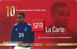REUNION - Recharge SFR - 10 Euros - David TREZEGUET - Riunione