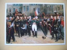Napoléon Bonaparte, Tableau, Antoine Monfort, D'après H Vernet Adieux De Napoléon à La Garde Impériale, Fontainebleau - Historische Persönlichkeiten