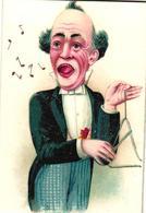"4 Cards Chromo 's Pub.Crama's Jachtwater Fabrieksmerk ""De Dood""  Muziekinstrumenten Dirigent Triangel Viool Trom Haarlem - Andere"