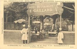 33 - ANDERNOS LES BAINS - GIRONDE - HOTEL RESTAURANT ** E. GAILLARD **- ANIMEE -  VOIR SCANS - Andernos-les-Bains