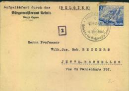 """1940, Brief Absender """"Bürgermeisteramt Kelmis (Kr. Euoen) Mit Sonderstempel MORISNET - Deutschland"""