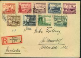 1938, WHW Schiffe Komplett Auf Sammler-R-Brief BERLIN-WILMERSDORF - Allemagne