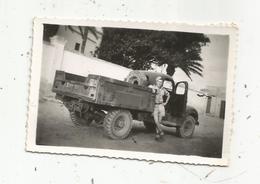 Photographie , Issue D'un Album , Militaria , Camion Militaire  ,Tunisie, 1947, Khereddine - Krieg, Militär