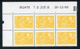 """Bloc De 8 Timbres** Gommés De 2006  """"0,10 € - Type Marianne De Lamouche - Phil@poste"""" Avec Date 20/12/06 - Angoli Datati"""