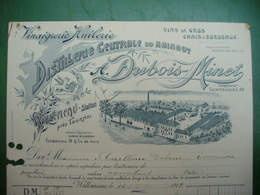 Tournai Facture; Distillerie Dubois Minet à Willemeau - Belgium