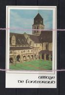 20/01 France Image Sur Soie Abbaye De Fontevraud 49 Pres De Couziers Turquant Thizay Chouze Saix Roiffe - Images Religieuses