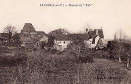 """Langon (35) - Manoir Du """"Faô"""". - Autres Communes"""