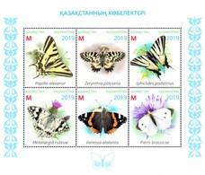 Kazakhstan  2019   Fauna  Butterflies Of Kazakhstan   S/S   MNH - Schmetterlinge