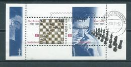 2001 Netherlands Complete M/Sheet Max Euwe,chess Used/gebruikt/oblitere - Blocks & Sheetlets