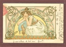 ILLUSTRATEUR - ALPHONSE MUCHA - FLEUR DE CERISIER - 2 SCANS - Mucha, Alphonse