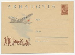 Postal Stationery Soviet Union 1960 Eskimo - Husky Dog - Inuit - Deer - Arktis Expeditionen